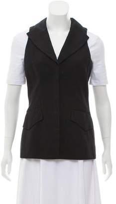 Celine Shawl Collar Button-Up Vest