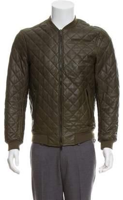 Lot 78 Lot78 Leather Bomber Jacket