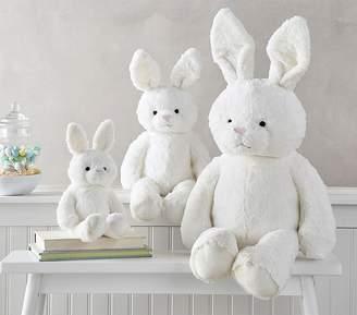 Pottery Barn Kids New Fur Bunny Small Plush, White