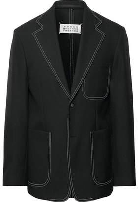 Maison Margiela Black Slim-Fit Woven Blazer