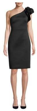 Eliza J Flower One Shoulder Dress