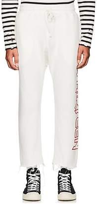 R 13 Men's Logo Cotton-Blend Crop Sweatpants - White