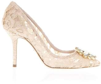 Dolce & Gabbana 60mm Bellucci Lace & Swarovski Pumps