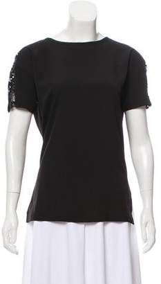 Sonia Rykiel Sonia by Lace-Accented Short Sleeve Shirt