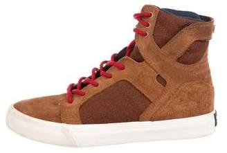 Supra Boys' Suede High-Top Sneakers