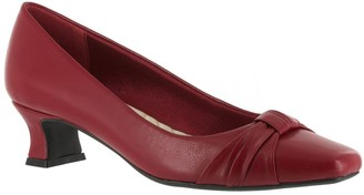 Easy Street Shoes Pleated Overlay Pumps - Waive