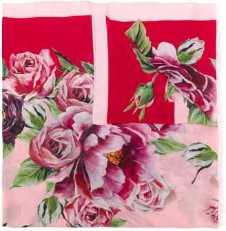 Dolce & Gabbana peonie print scarf