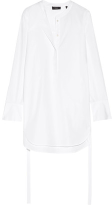 Theory - Maraseille Cotton-poplin Tunic - White $255 thestylecure.com