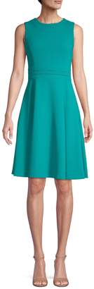 Calvin Klein Solid Fit-and-Flare Dress