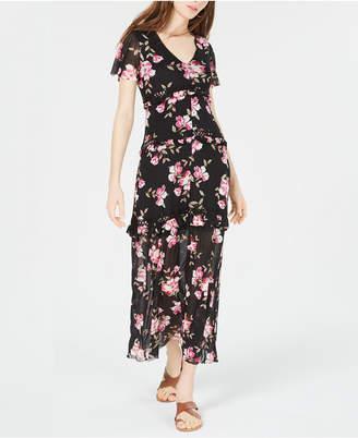 American Rag Juniors' Flutter-Sleeve Maxi Dress