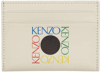 Kenzo White Square Logo Card Holder