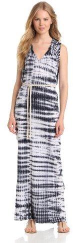 Velvet by Graham & Spencer Women's Tie-Dye Split-Neck Maxi Dress