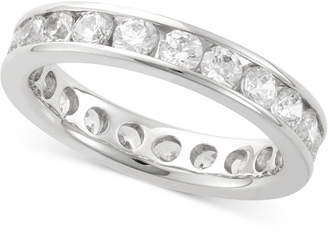 Macy's Diamond Channel Set Eternity Band (2 ct. t.w.) in 14k White Gold