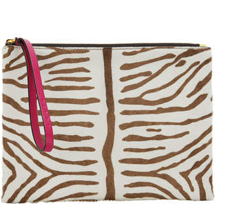 Marni Tiger Haircalf Clutch