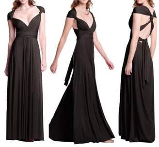 Feel Women Fashion Sleeveless Halter Bandage Ball Gown Dress Multi Worn Elegant Sexy Multiway Convertible Long Dresses