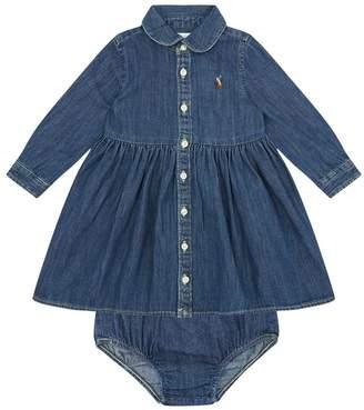 Polo Ralph Lauren Denim Shirt Dress and Bloomers