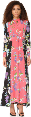 Diane von Furstenberg Floor Length Shirtdress $598 thestylecure.com
