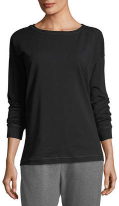 Eileen Fisher Stretch Jersey Sweatshirt Top, Petite