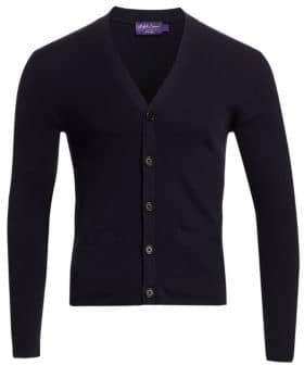 Ralph Lauren Purple Label Rib-Knit Merino Wool Cardigan