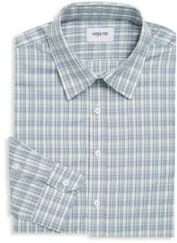 Hyden Yoo Plaid Cotton Dress Shirt