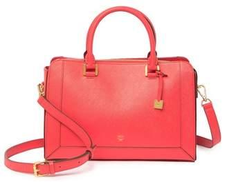MCM Saffiano Leather Small Tote Bag