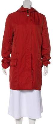 Fendi Fur-Lined Hooded Coat