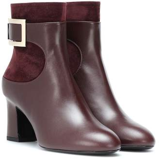 Roger Vivier Trompette leather and suede ankle boots