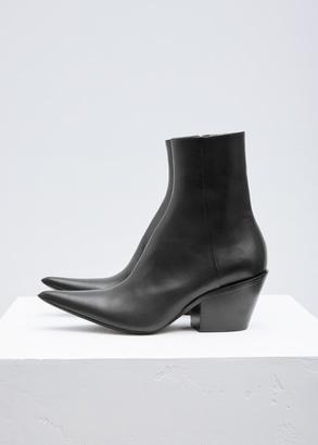 Haider Ackermann taurus black chunky bootie $1,150 thestylecure.com