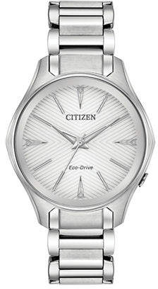 Citizen Analog Chevron Dial Stainless Steel Bracelet Watch