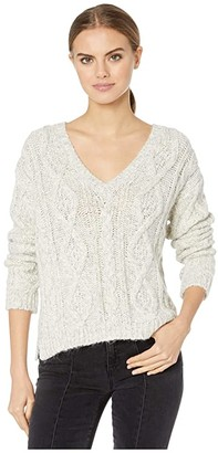 Majestic Filatures Cotton/Acrylic/Alpaca Long Sleeve V-Neck