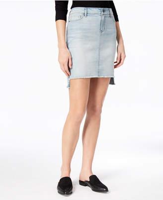 Black Daisy Juniors' Denim Cut-Off Skirt