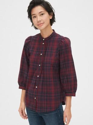 Gap Puff Sleeve Pintuck Shirt