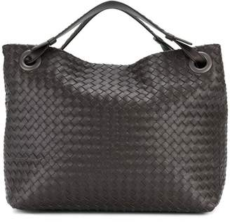 Bottega Veneta espresso Intrecciato nappa medium Garda bag