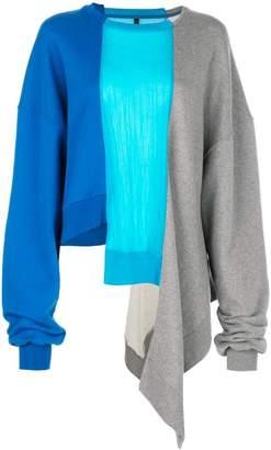 Unravel Project oversized asymmetric sweatshirt