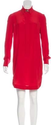 Givenchy Silk Shirt Dress Red Silk Shirt Dress