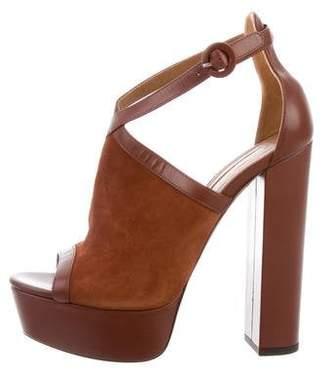Aquazzura Platform Peep-Toe Sandals