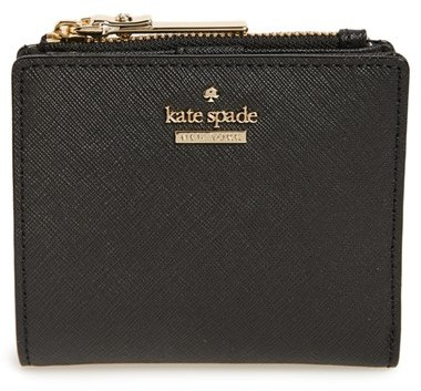 Women's Kate Spade New York Cameron Street - Adalyn Slim Leather Wallet - Black