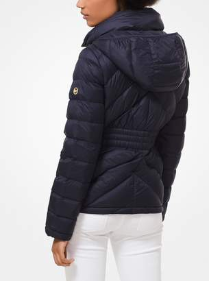 MICHAEL Michael Kors Quilted Nylon Packable Hooded Puffer Jacket