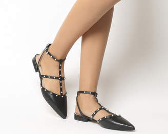 Office Figtree Studded Point Flats