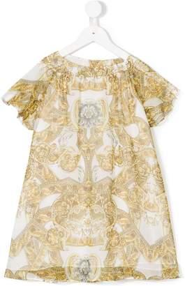 Versace ornate print dress