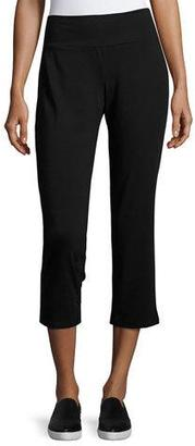 Eileen Fisher Organic Cotton Stretch-Jersey Cropped Pants $118 thestylecure.com