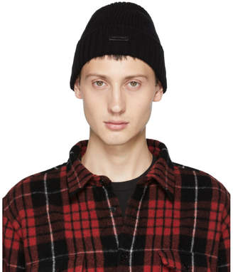 DSQUARED2 Black Misto Beanie