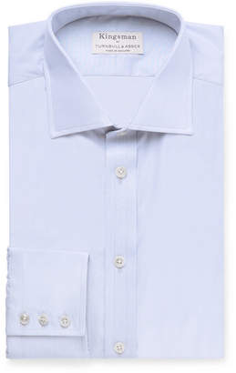 Turnbull & Asser Kingsman + Cutaway-Collar Striped Cotton Shirt