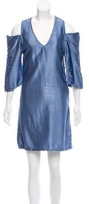 Maison Margiela Cold-Shoulder Satin Dress