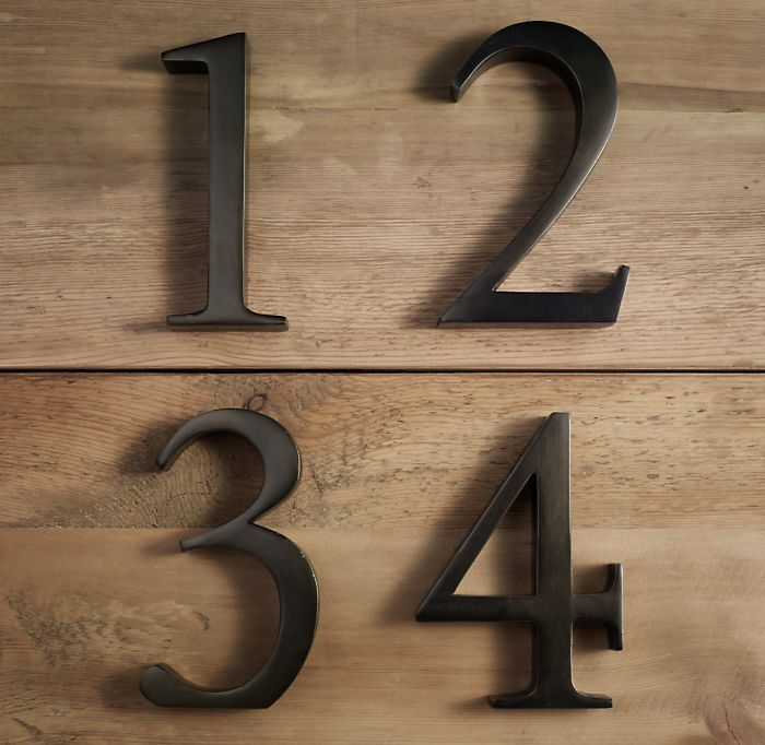 Cast Metal Number Collection