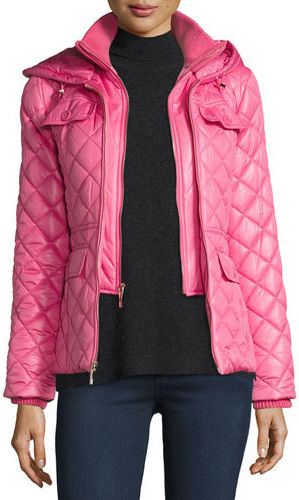 Kate Spade Kate Spade New York Packable Quilted Short Coat W/ Bow Detail