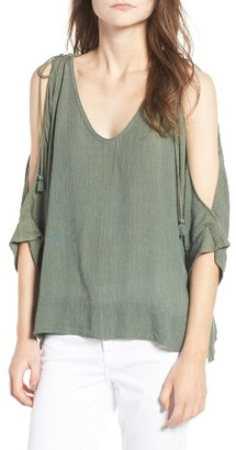Women's Ella Moss Katella Cold Shoulder Top $148 thestylecure.com