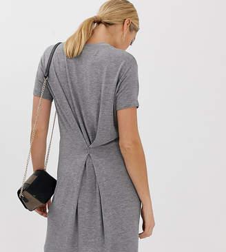 Asos Tall DESIGN Tall pinch back marl t-shirt dress