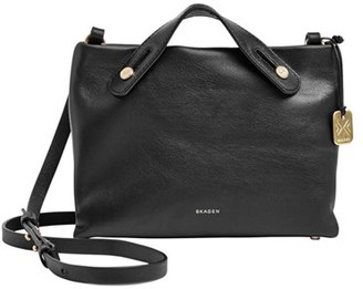 Skagen 'Mini Mikkeline' Leather Crossbody Bag $195 thestylecure.com
