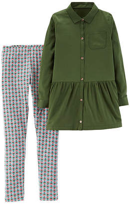 Carter's 2pc Olive Legging Set- Girl